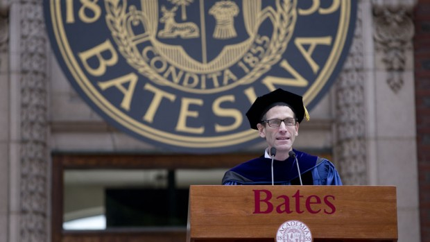 Matt Auer, vice president for academic affairs and dean of the faculty at Bates, gave the Convocation address on Sept. 2, 2014. (Phyllis Graber Jensen/Bates College)