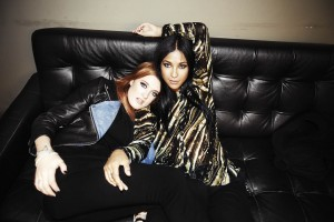 Icona Pop shown backstage at Brooklyn's Music Hall of Williamsburg in 2013: Caroline Hjelt and Aino Jawo. (Fredrik Etoall)