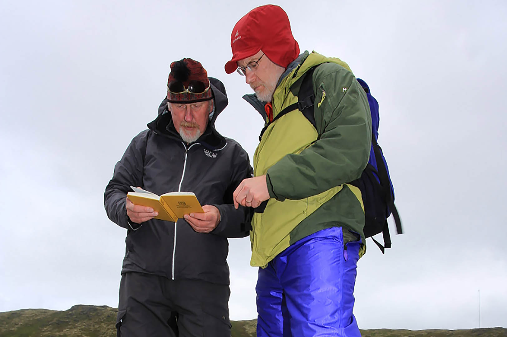 Professors Michael Retelle, at left, and William Ambrose on the island of Ingøya, Norway. (© Randall Hyman)