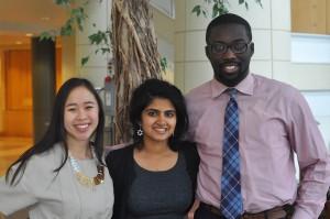 Michelle Pham '15, Shamreen Fatima '16 and Daniel Oyolu '15 have organized TEDxBatesCollege.