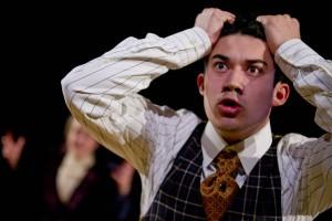 "Dan Peeples '17 of Piermont, N.Y., portrays David in ""The Summer in Gossensass."" (Phyllis Graber Jensen/Bates College)"