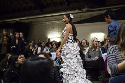 "Milla's dress won the ""Most Glamorous"" award. (Sarah Crosby/Bates College)"
