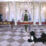 The 2014 White House holiday card features artwork by Emily Buchanan '89
