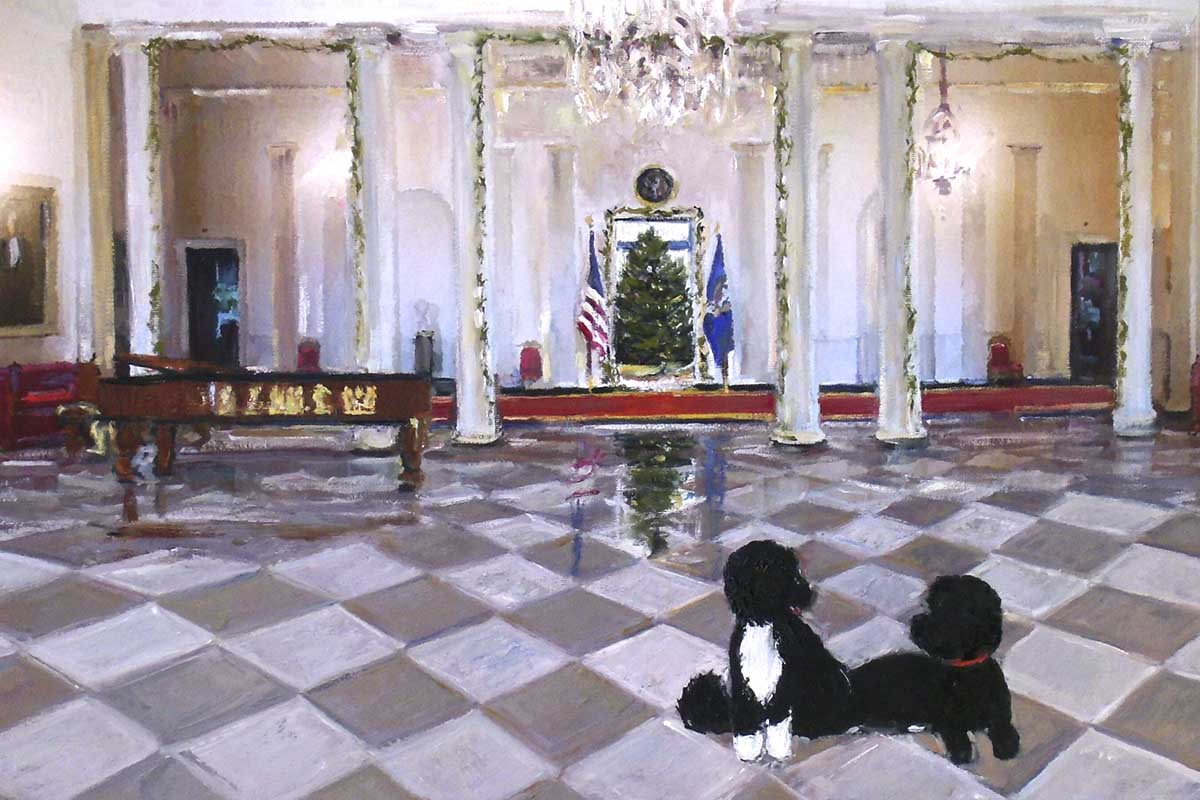 the 2014 white house holiday card features artwork