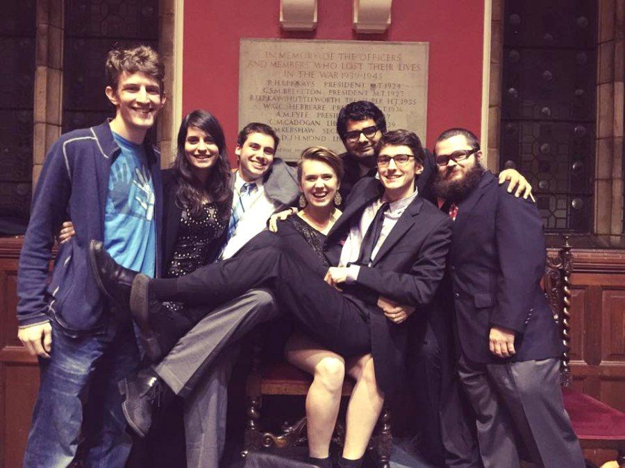 From left, Colin Etnire '12, Tessa Holtzman, Matt Summers, Taylor Blackburn '15, Amit Dubey '15, Dmitry Redkin '15, Noah Levick '17 of Narbeth, Pa.