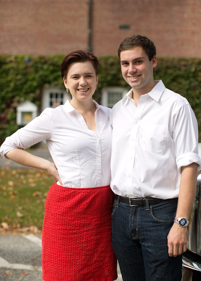 The team of Taylor Blackburn '15 and Matt Summers '15 is among the most prominent U.S. teams heading to Malaysia in January for the World Universities Debating Championships. (Phyllis Graber Jensen/Bates College)