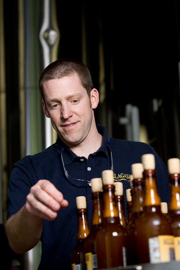 Jason Perkins '97 of Allagash Brewing Company, photographed in 2008 at the brewery's headquarters in Portland, Maine. (Phyllis Graber Jensen/Bates College).