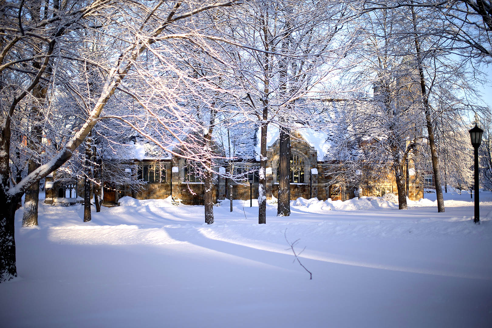 Hamilton College Campus Winter
