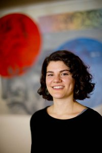 Martha Schnee '15, back at Bates. (Phyllis Graber Jensen/Bates College)