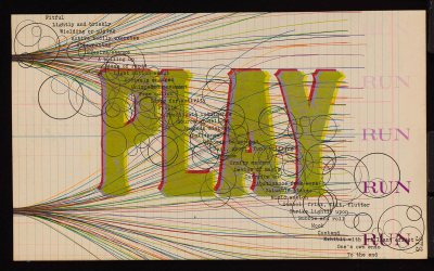 """Play"" is a 2002 print by Greg Shattenberg."