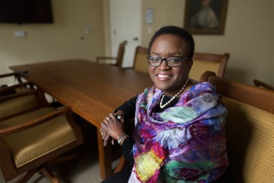 Valerie Smith '75 was announced as the 15th president of Swarthmore College on Feb. 21, 2015. (Laurence Kesterson / Swarthmore College)