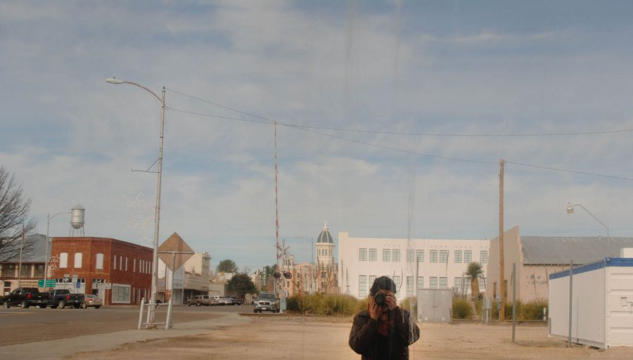 Martha Schnee '15 in a self-portrait in Marfa, Texas.