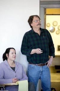 Sylvia Federico and Michael Jones. (Phyllis Graber Jensen/Bates College)