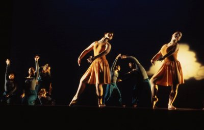 "The Bates Modern Dance Company performs ""A Romp"" in 1997. Dance alumni perform at Bates on May. (Leonard Plavin, courtesy of Marcy Plavin)"