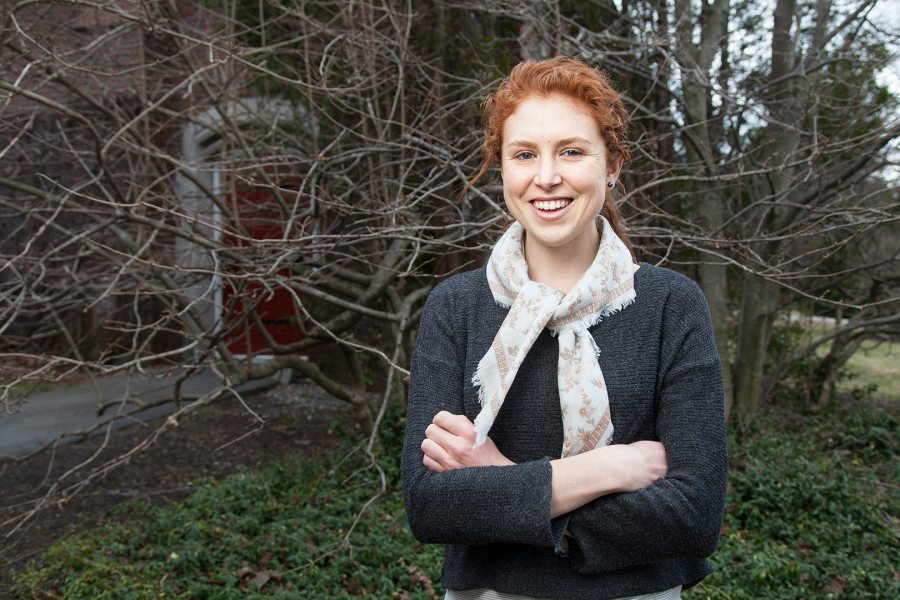 Frances Jennings '15, a double major in politics and Chinese from Springfield, Ohio, has received a 2015-16 Fulbright Research Grant to study the changing concept of success in China. (Josh Kuckens/Bates College)