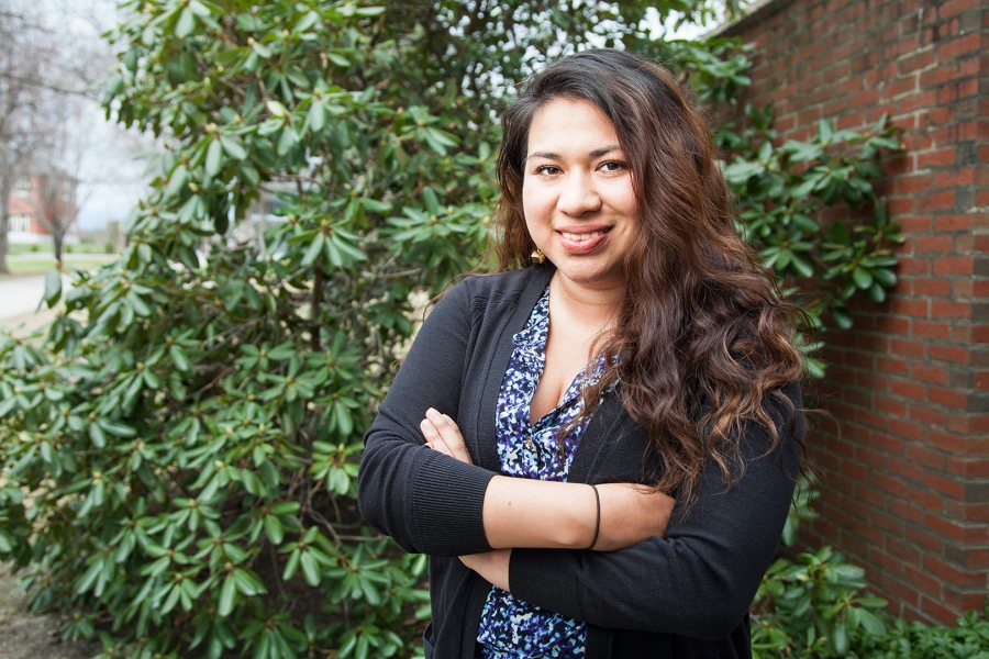 Liliana Jimenez '15, a politics major from Chicago, has received a 2015-16 Fulbright English Teaching Assistantship for Turkey. (Josh Kuckens/Bates College)