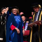 President Spencer honored with degree from Bishop's University