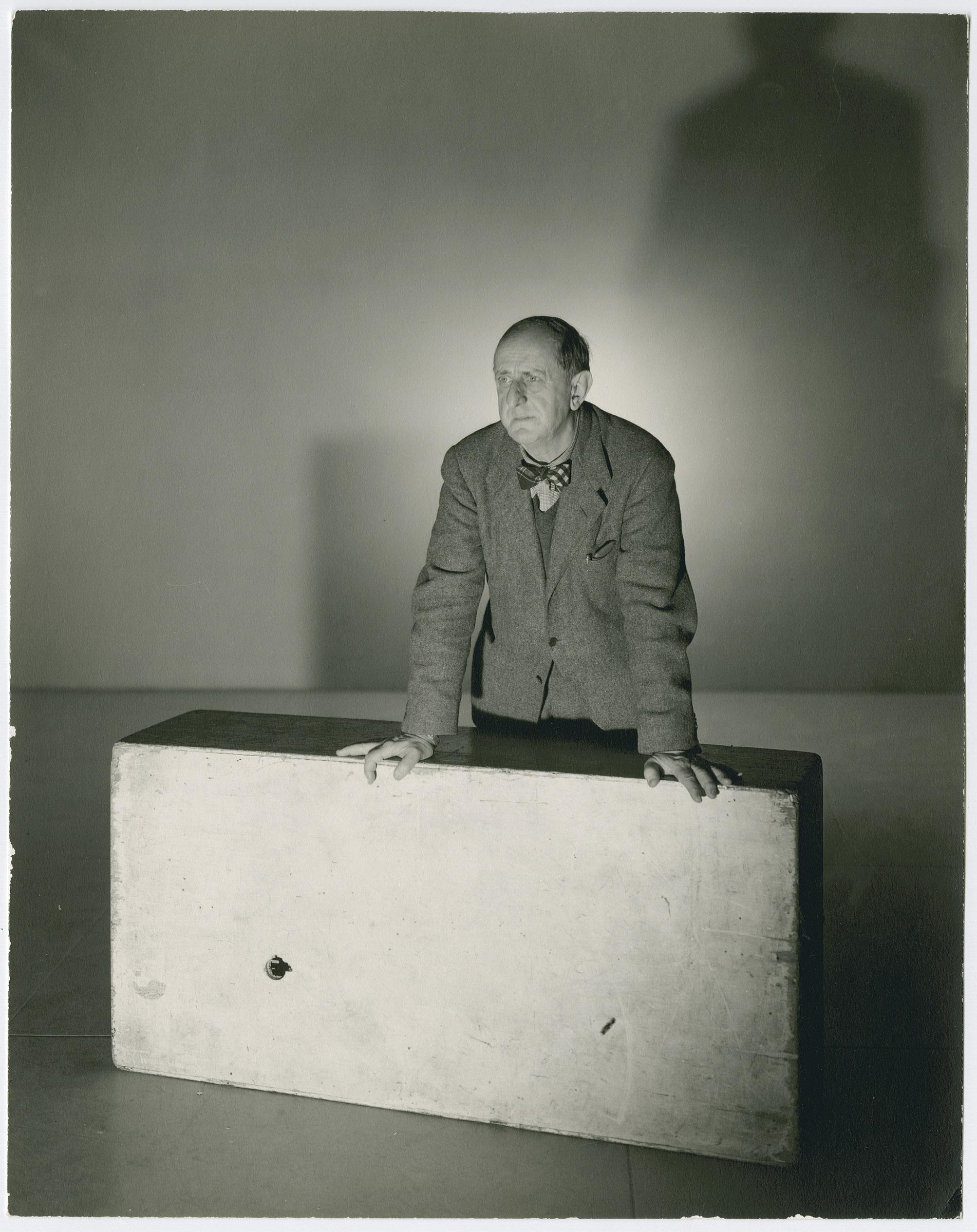 A 1943 portrait of artist Marsden Hartley by photographer George Platt Lynes. Marsden Hartley Memorial Collection, Bates College Museum of Art.