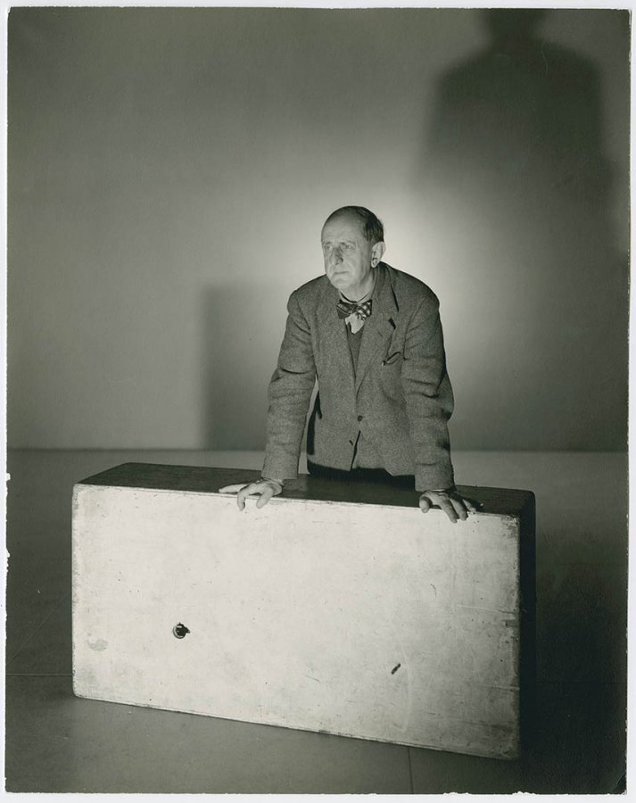 A 1943 portrait of artist Marsden Hartley by photographer George Platt Lynes. Marsden Hartley Memorial Collection, Bates College Museum of Art.