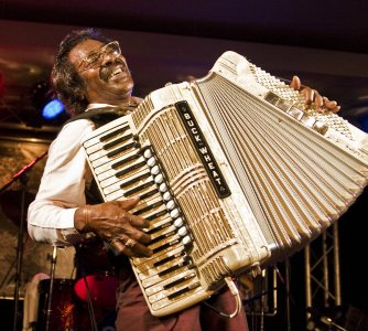 The great Buckwheat Zydeco performs at Bates on July 30.