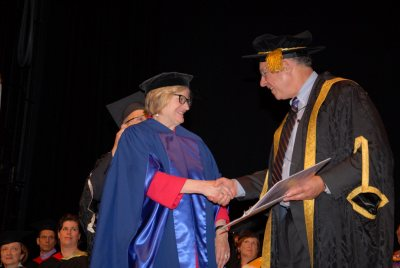 President Spencer received an honorary degree on June 6 from Bishop's University in Quebec.