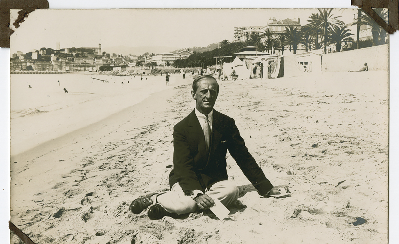 Marsden Hartley in Cannes, France, in 1925, in a gelatin silver print made by an unknown photographer. MUST CREDIT: Marsden Hartley Memorial Collection, Bates College Museum of Art