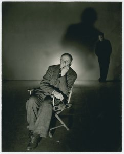 A 1943 gelatin silver print of Marsden Hartley by George Platt Lynes. MUST CREDIT: Marsden Hartley Memorial Collection, Bates College Museum of Art
