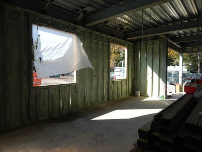 Photographed Oct. 20, 2015, this greenly insulated first-floor space at 55 Campus Ave. will be a game room. (Doug Hubley/Bates College)