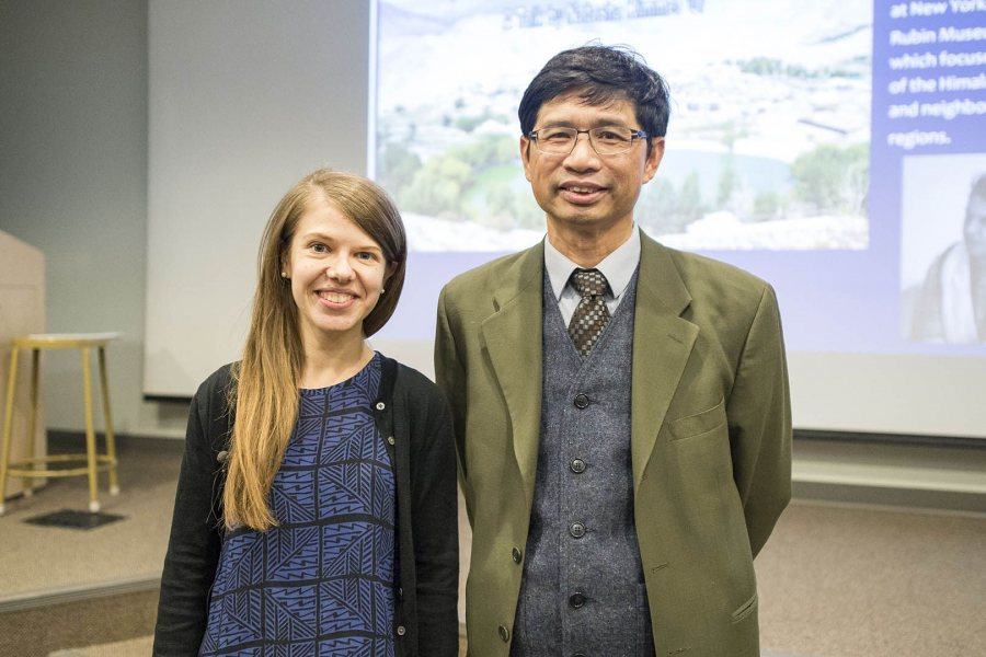 Tasha Kimmet '07 and her Bates adviser, Associate Professor of Art and Visual Culture Trian Nguyen. (Josh Kuckens/Bates College)