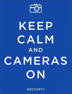 """Keep Calm,"" a 2011 poster by Mark Miller, Los Angeles."