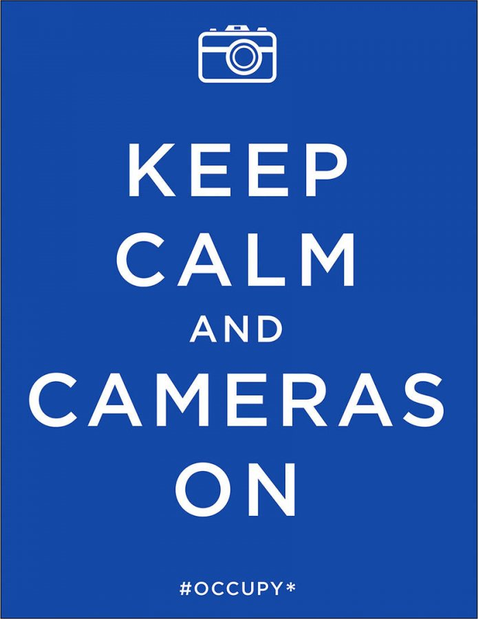 """""""Keep Calm,"""" a 2011 poster by Mark Miller, Los Angeles."""