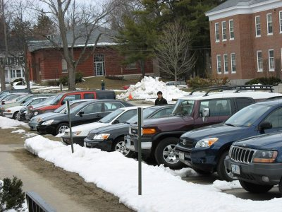 Andrews Road parking is soon to be only a cherished memory. (Doug Hubley/Bates College)