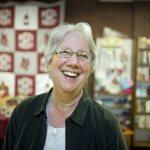 Retirement of Sarah Potter '77, bookstore director who also teaches virtues 'hard work and thoughtfulness'