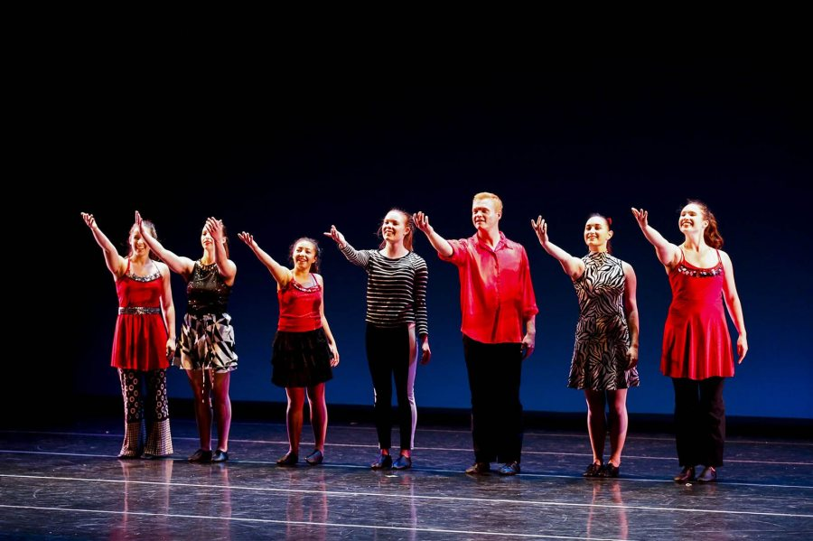 The Bates Dance Company in an October performance. (Max Huang '18 for Bates College)