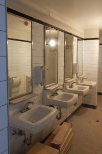 That sinking feeling: A bathroom in 65 Campus Ave. on Jan. 12, 2016. (Doug Hubley/Bates College)
