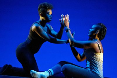 A scene from Sankofa's 2016 MLK Day performance. (Phyllis Graber Jensen/Bates College)