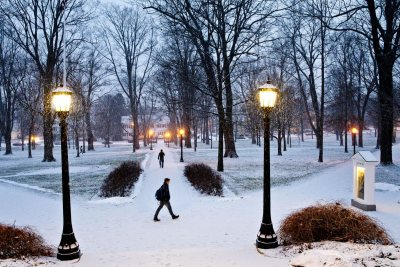 Please let it snow... Prayer answered. (Phyllis Graber Jensen/Bates College)