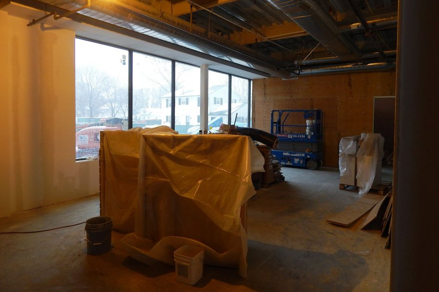 This space on the first floor of 65 Campus Ave. will be the College Store's textbook area. (Doug Hubley/Bates College)
