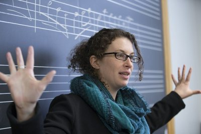 Janet Bourne's music cognition research involves perceptual parallels between music and language. (Phyllis Graber Jensen/Bates College)