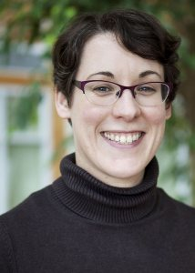 Lauren Ashwell celebrates 5 years of working for Bates College. (Sarah Crosby/Bates College)