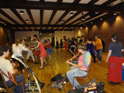 A Friday night contradance at Bates.