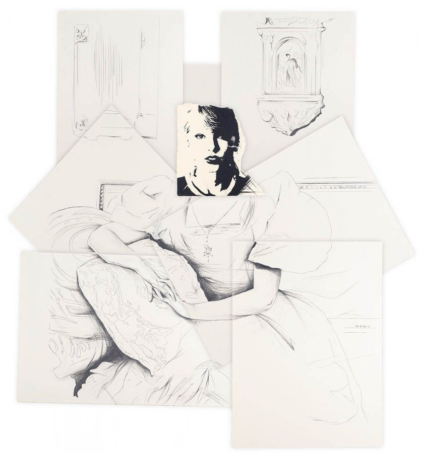 """""""Auctoritas,"""" a 2016 image in charcoal and pencil on paper by Elizabeth LaVerghetta."""