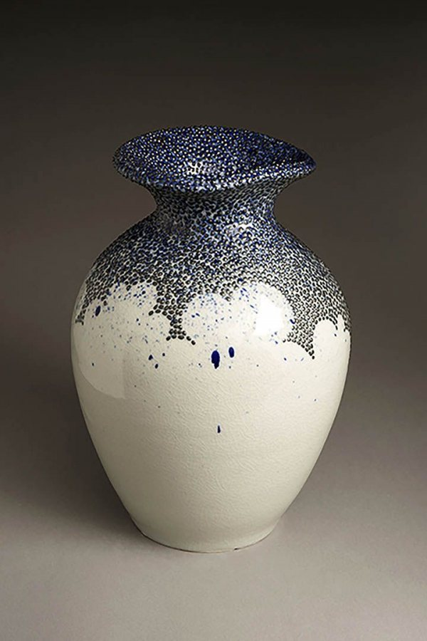 This untitled ceramic piece by Sasha Lennon '16 is on display at the Bates College Museum of Art in the 2016 Senior Thesis Exhibition.