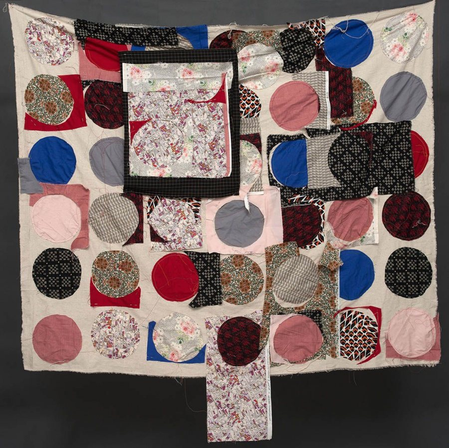 An untitled work in fabric by Margaret Pope '16.