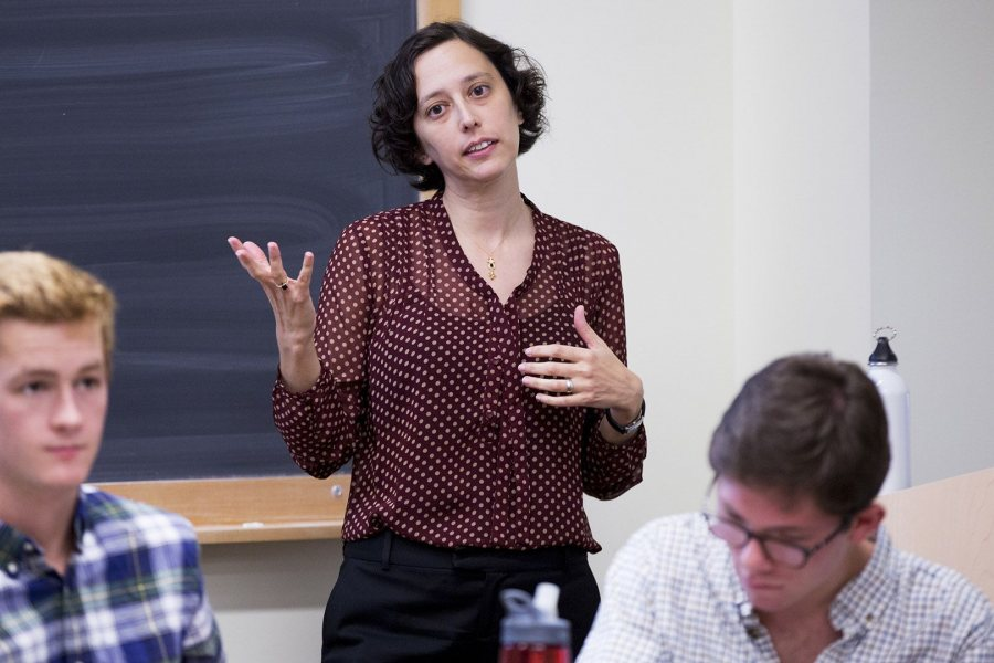 Senem Aslan has been promoted to associate professor of politics at Bates. (Phyllis Graber Jensen/Bates College)