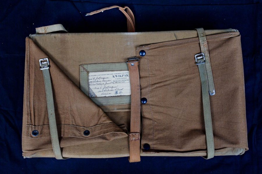 "Reusable ""KwikPak"" laundry case, like this one that's in the Muskie Archives and Special Collection Library, were a go-to option for students doing laundry in the 1950s. (Phyllis Graber Jensen/Bates College)"