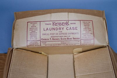 "Reusable laundry cases like this one promised ""extra high, rigid corrugations."" (Phyllis Graber Jensen/Bates College)"
