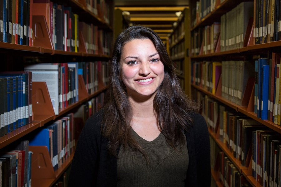 Tara Das '16, a double major in politics and French from Biandronno, Italy, was awarded a 2016–17 Fulbright English Teaching Assistantship for Turkey. (Josh Kuckens/Bates College)