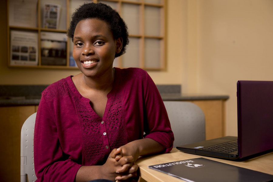 Bantu Mabaso '18 of Mpaka, Swaziland, has been awarded a Davis Projects for Peace grant for summer 2016. (Phyllis Graber Jensen/Bates College)