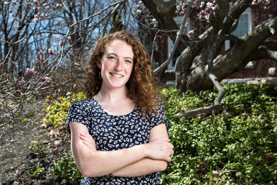 Mary Krathwohl '16, a Latin American studies major from Ipswich, Mass., was awarded a 2016–17 Fulbright English Teaching Assistantship for Spain. (Josh Kuckens/Bates College)